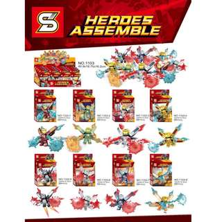 SY™ 1103 Iron Man 8in1 Minifigures with Blast Pack