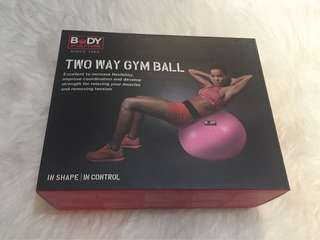 For Sale Gym Ball Body Sculpture (Two Way) Pink