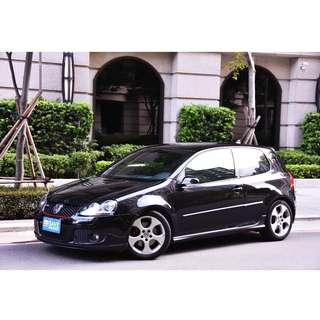2008年10月出廠09年8月領牌 福斯 GOLF GTI 稀有三門款 尊爵黑
