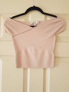 Forever New Off Shoulder Pink Bandage Top Size XS