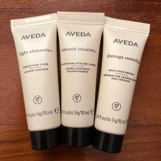 Aveda sample pack x3