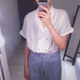 售出___Apricot Club   麻混紡  日本古着  雙排扣