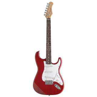"""STAGG STANDARD """"S"""" ELECTRIC GUITAR (RED)"""