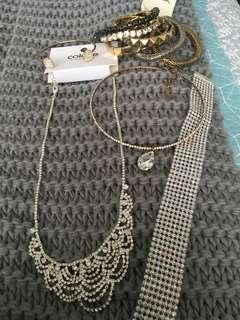 Formal diamanté jewellery
