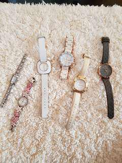 Branded watches (Titus) (Coach) (Marc Jacobs) (Guess) (Espirit)