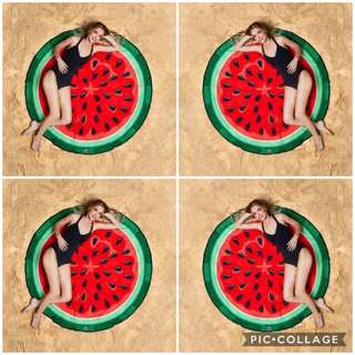 In-stock Quirky Watermelon Beach Mats / Picnic Mats / Throwovers