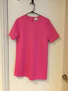BLQ BASIQ pink shift dress