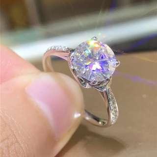 No.2745 18K莫桑鑽石戒指 Moissanite Diamond ring