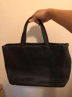 Furla leather black bag - work bag, tote (moving sale)