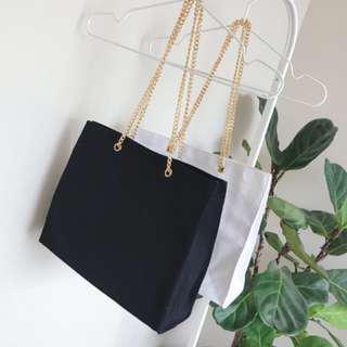 Classic Lady Chain Canvas Bag