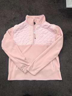 Pink fleece zip up