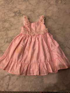 Zara Kids Pink Dress with Rosettes - size 3 to 4 Y