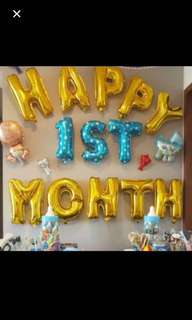 Limited stocks: Happy 1st month balloon