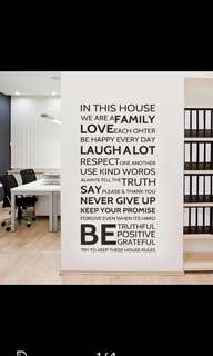 House Rules Wall stickers