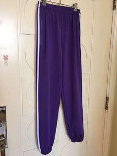 紫色束腳運動褲