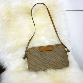 Vintage Gucci Monogram Canvas Bag (Small)