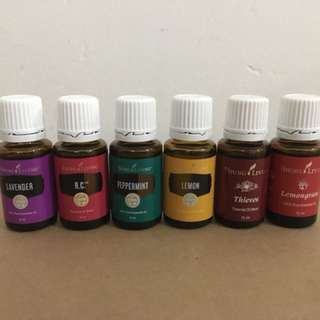 Young Living RC, Thieves, Lavender, Peppermint , Lemon