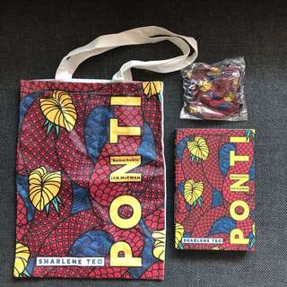 Brand New Ponti with the limited edition tote and face mask