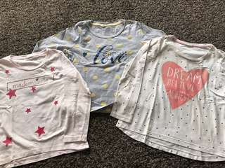 Girls long sleeves shirts (8-9Y)