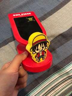 海賊王路飛可旋轉電話托