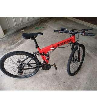 "Macce Foldable Mountain Bike 24"""