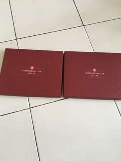 2 SG 50 commemorative notes box n album