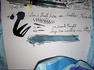 Dew Pens' Ancient Sea fountain pen ink #blessing