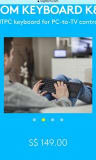 Logitech K830 illuminated Keyboard for Smart TVs and PCs