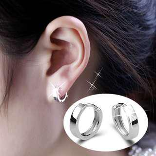 [3 for $10] V134 - Minimalist smooth surfaces earrings