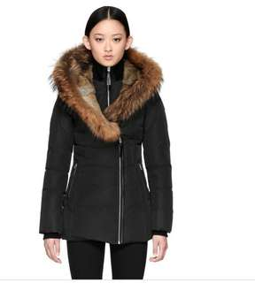 XXS Black Mackage Akiva Fur Lined Hood Winter Down Coat