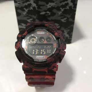 G-Shock Red Camouflage Watch
