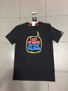 New & Authentic Adidas ADITUDE TEE (black)kids