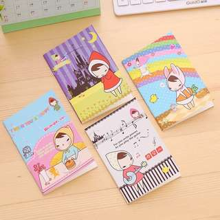 Kids Small Notebook - Scarf Girl