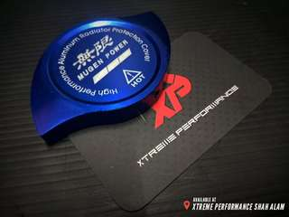 Mugen Radiator Cap Cover Anodized Aluminium Blue Color