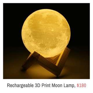 🌈Rechargeable 3D Print Moon Lamp