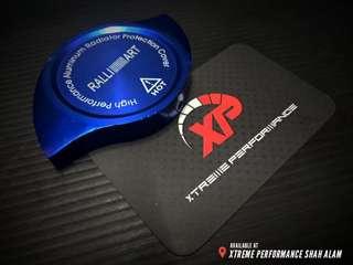 Ralliart Radiator Cap Cover Anodized Aluminium Blue Color