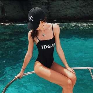 Idgaf one piece swimsuit
