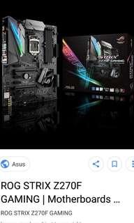 Intel i7-7700k with z270F mb