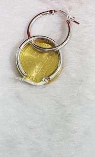 18K Saudi White Gold Earring