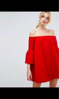 ASOS red dress. New with tags size 8-10 nmd Nike Sheike