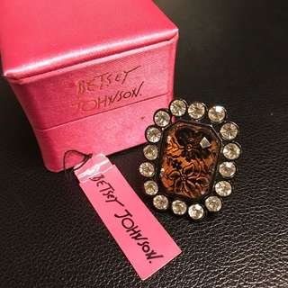 Betsey Johnson ring with box