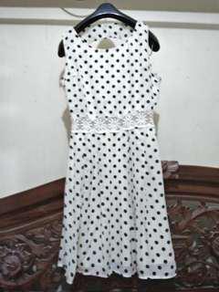 MOST Yellow Polka Dress