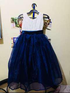 Girls Blue Gown