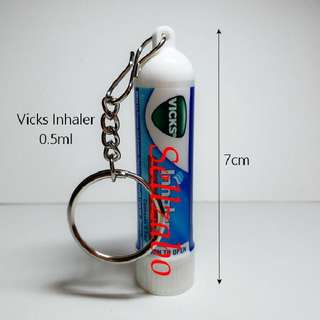 Vicks Nose Sniff Inhaler With Key Chain Sellzabo Relueve Block Blocked Running Nose Cold Refresh Refreshing Flu