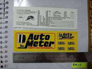 Sticker Autometer original