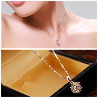 [3 for $10] V251 - Minimalist crystal necklace
