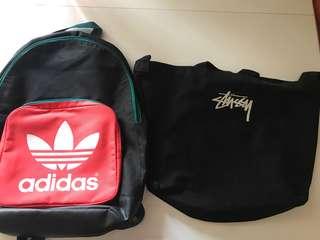 $150@2 清貨 adidas daypack stussy bag