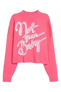 h&m not your baby sweat top