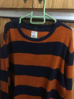 Orange stripes sweater