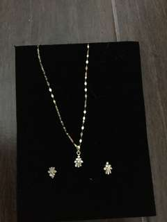 Diamond  Set 14K gold (rush sale!)